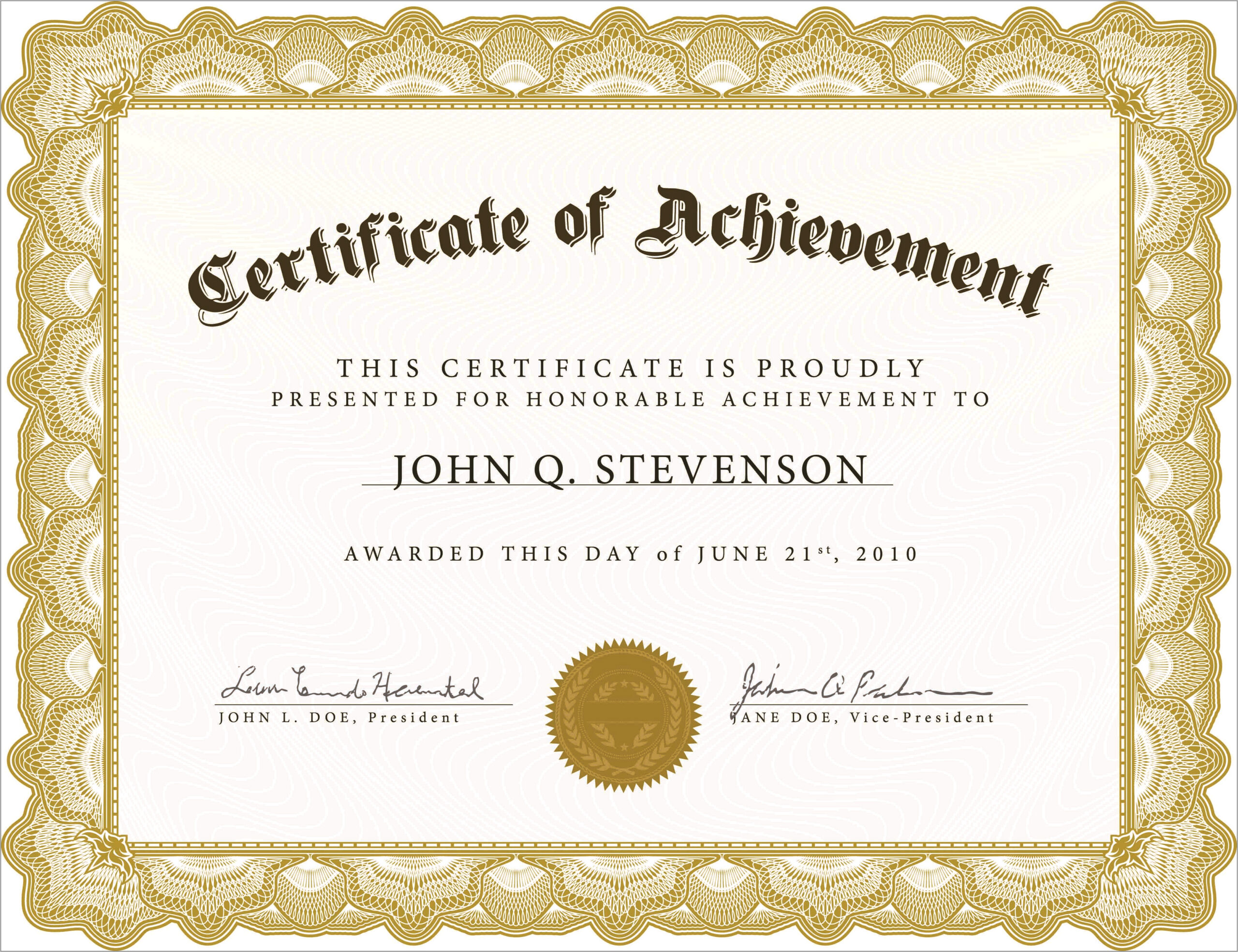 Award Certificate Templates For Word
