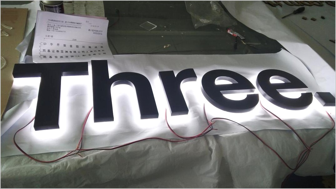 Backlit Channel Letters Signage