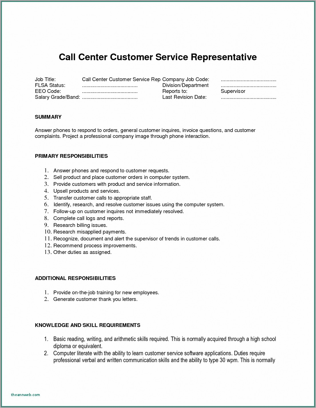 Best Resume Format For No Experience