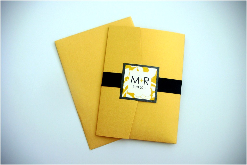Black And Yellow Wedding Invitations