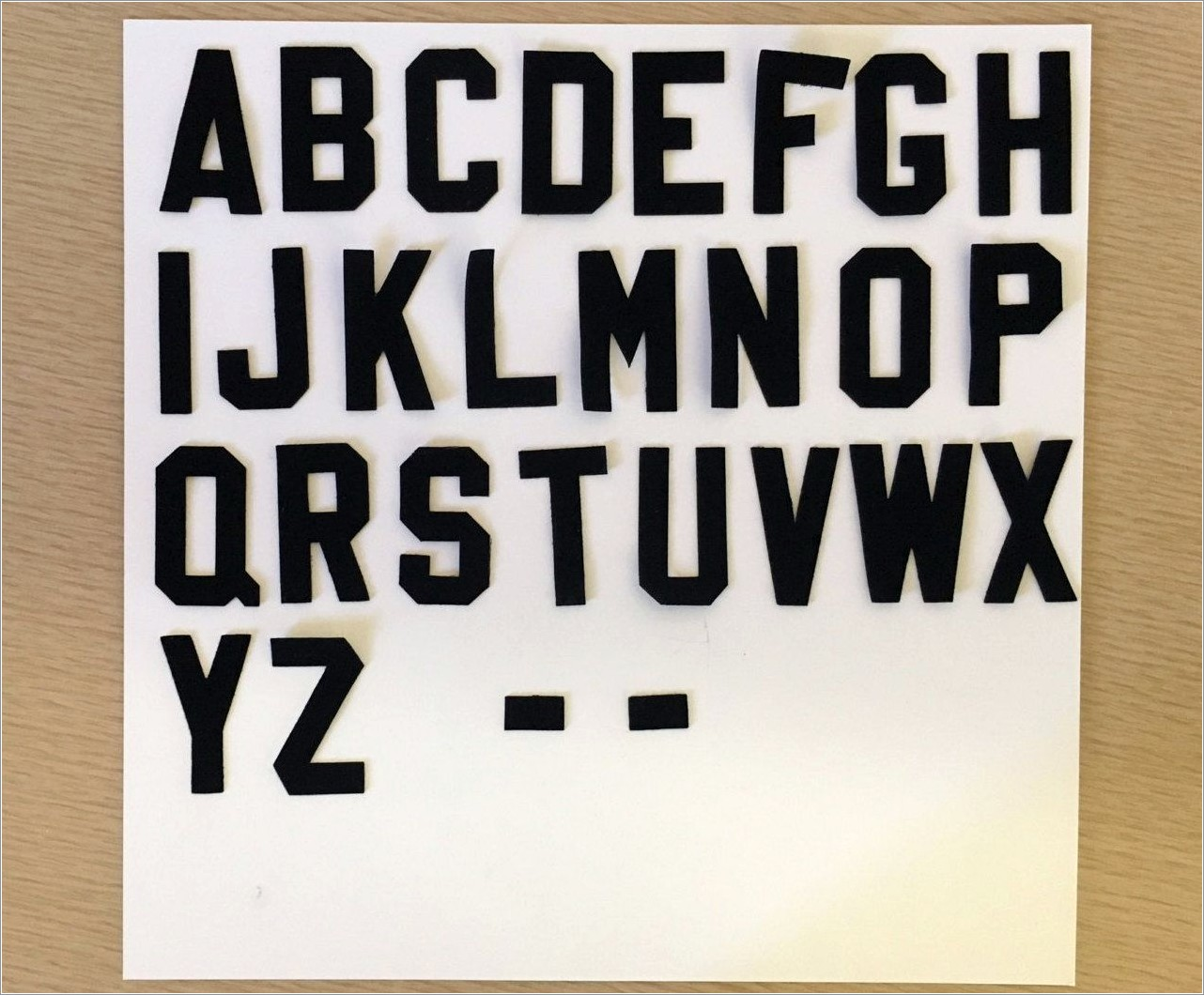 Black Iron On Letters