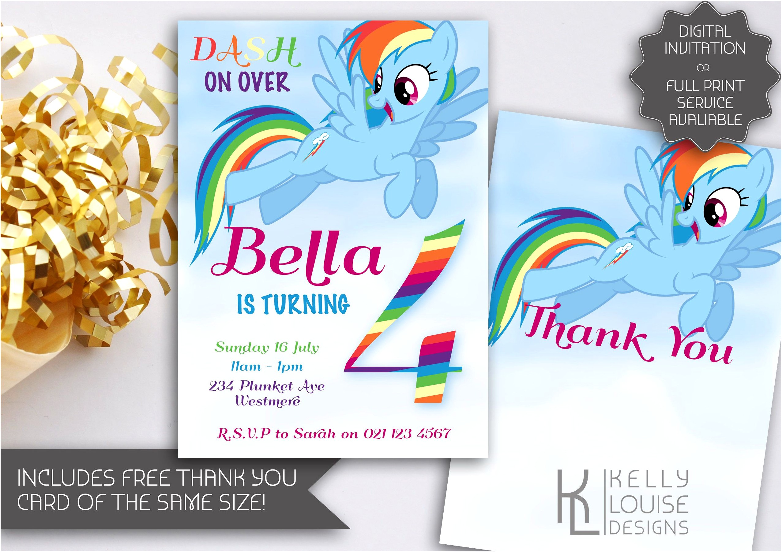 Blank Rainbow Dash Invitations