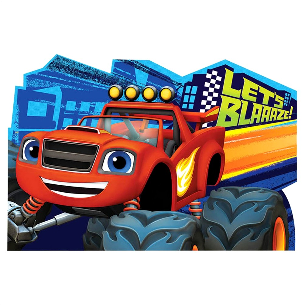 Blaze And The Monster Machines Blank Invitations