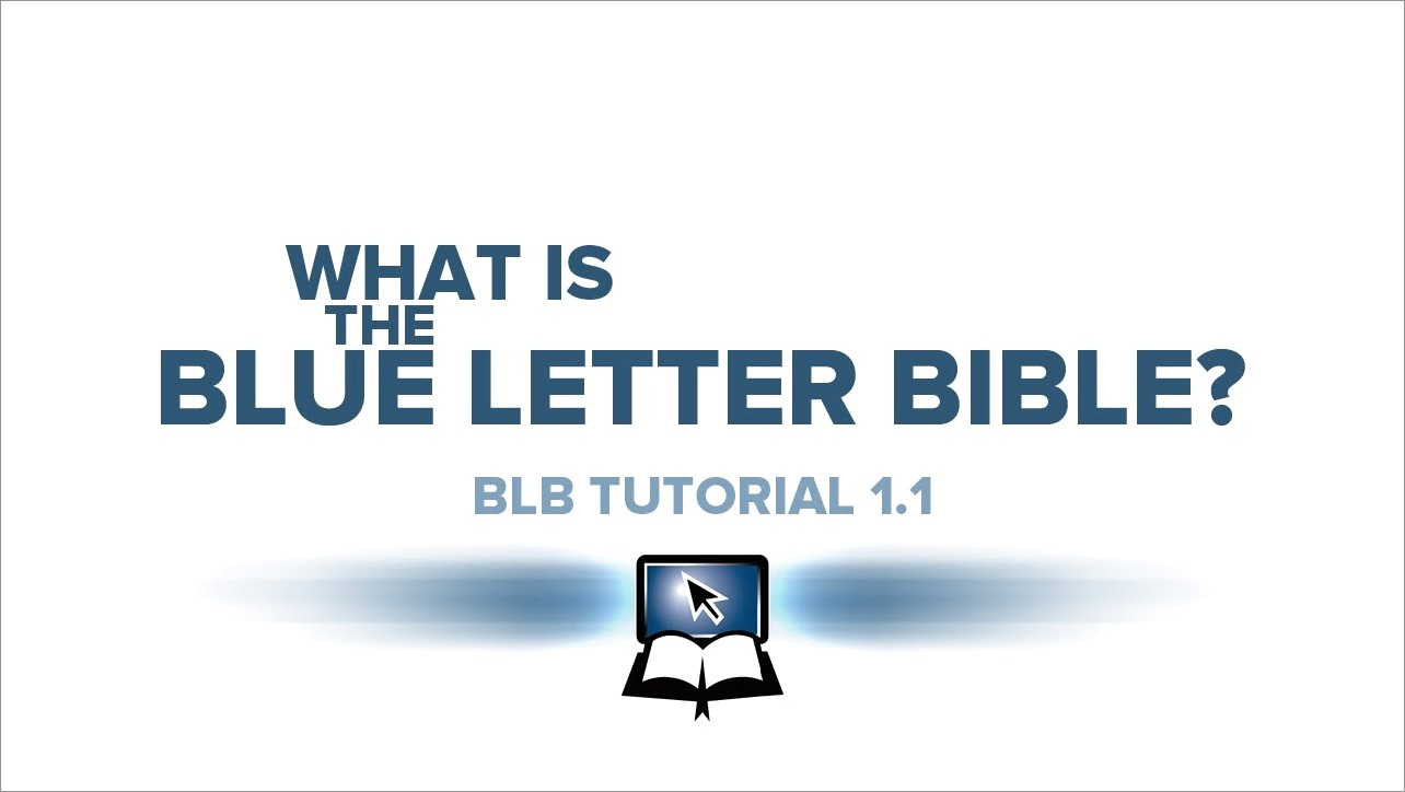 Blue Letter Bible App For Mac