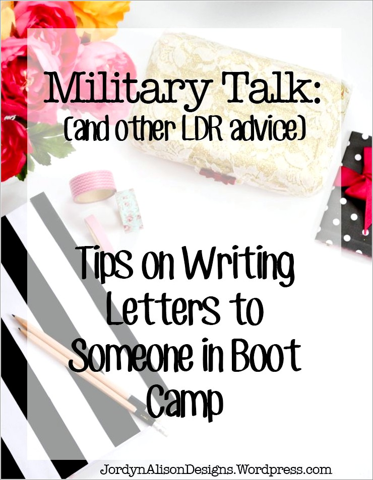 Boot Camp Letters Army