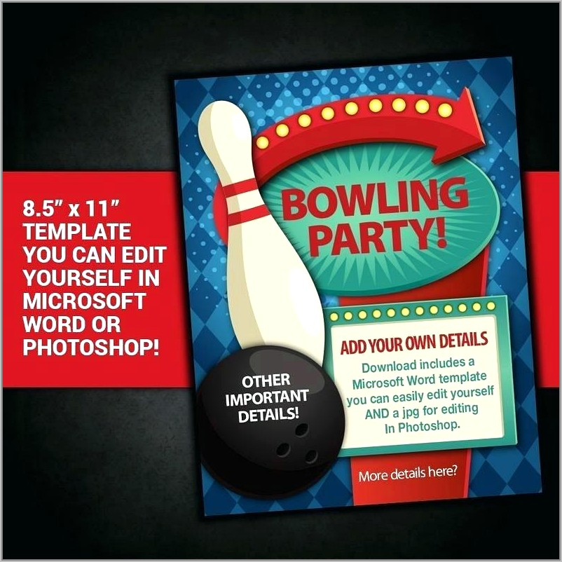 Bowling Event Flyer Template Free