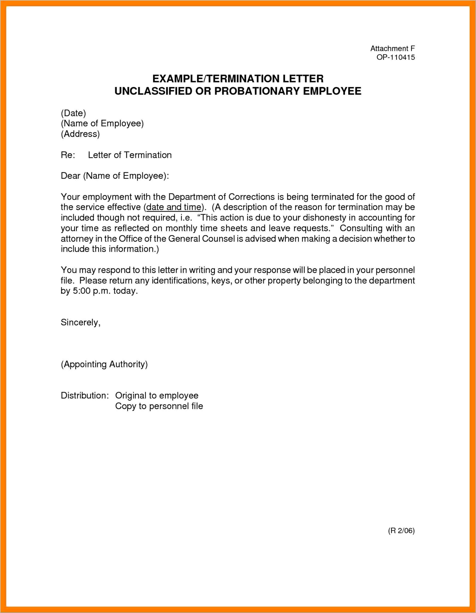 Business Contract Termination Letter Sample Doc