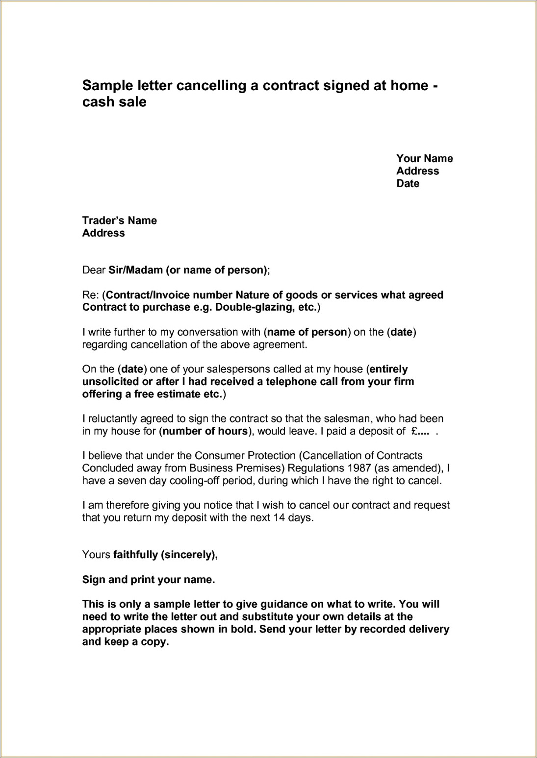 Business Contract Termination Letter Sample Pdf