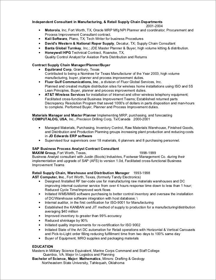 Business Process Analyst Cover Letter