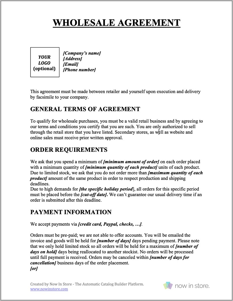 Business Sale Contract Template Qld