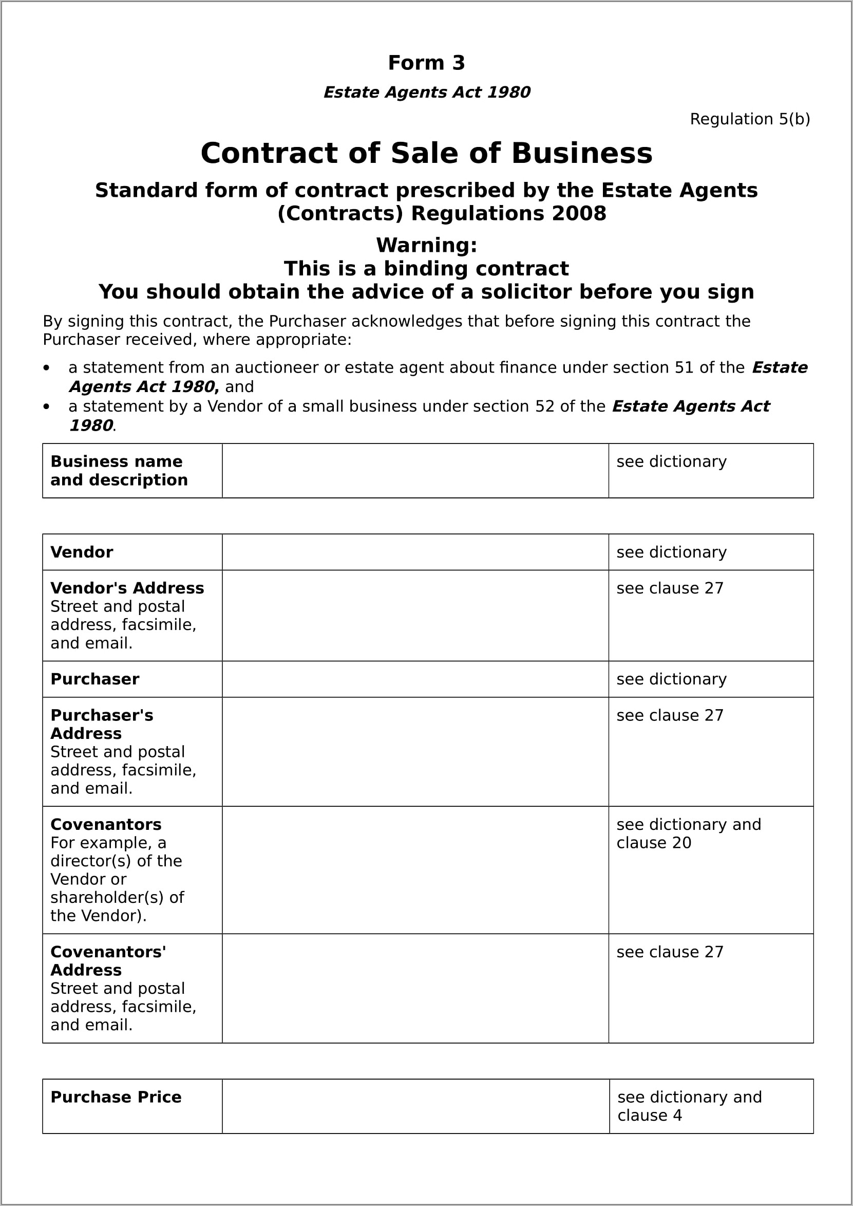 Business Sales Contract Template Pdf