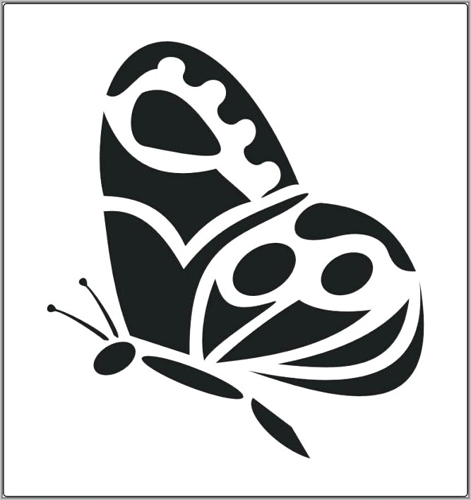 Butterfly Stencil Designs For Walls