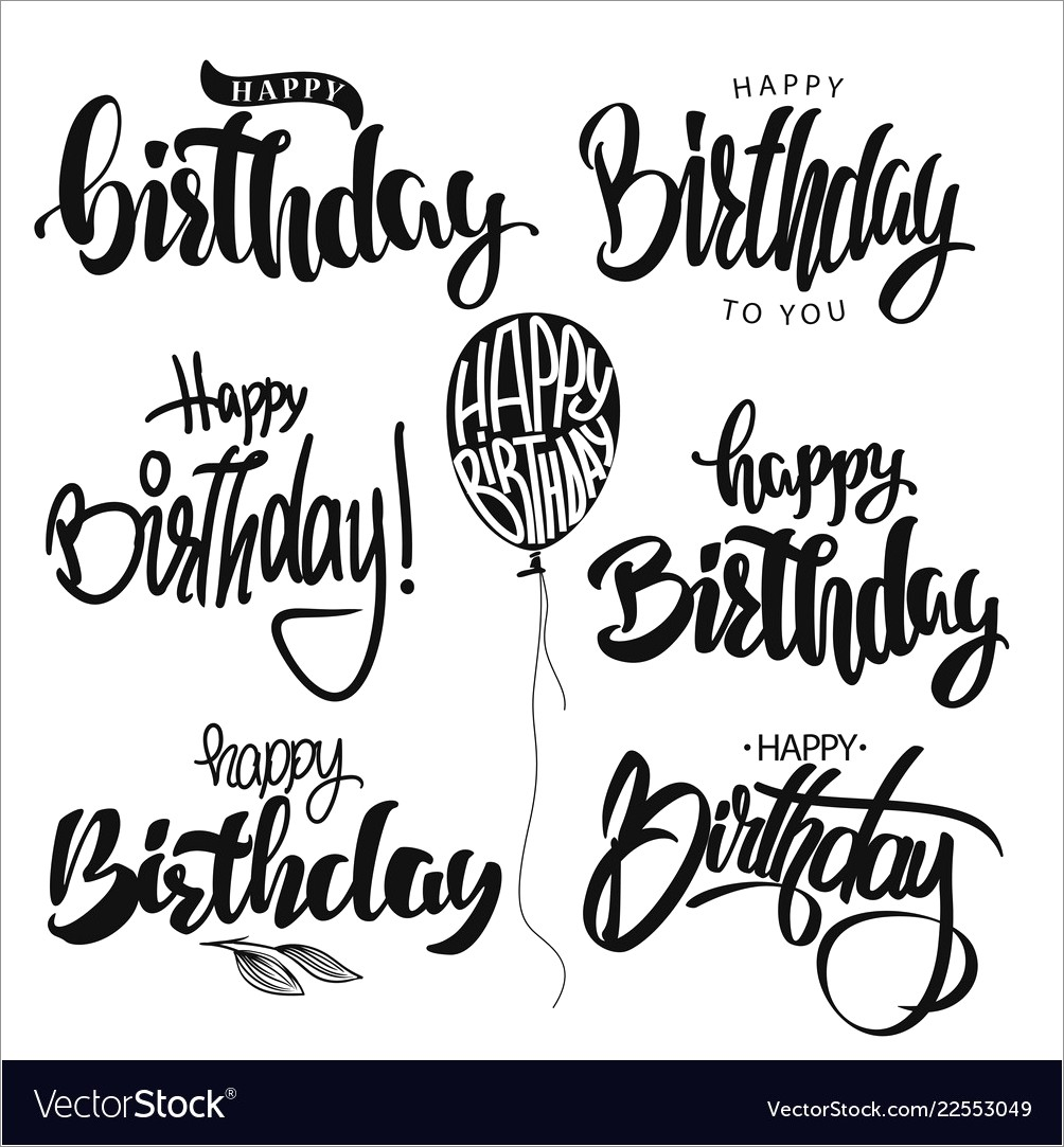 Calligraphy Happy Birthday Hand Lettering