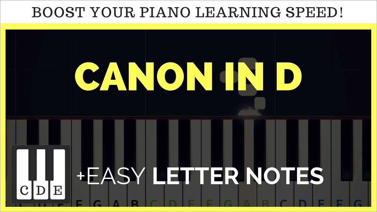 Canon In D Easy Piano Letter Notes
