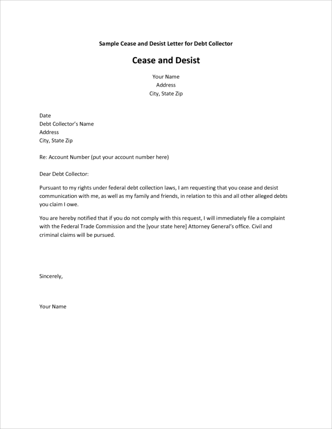 Cease And Desist Letter Harassment Uk