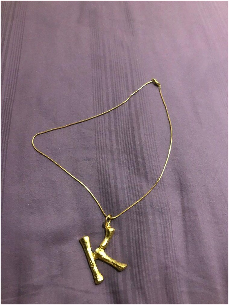 Celine Bamboo Letter Necklace