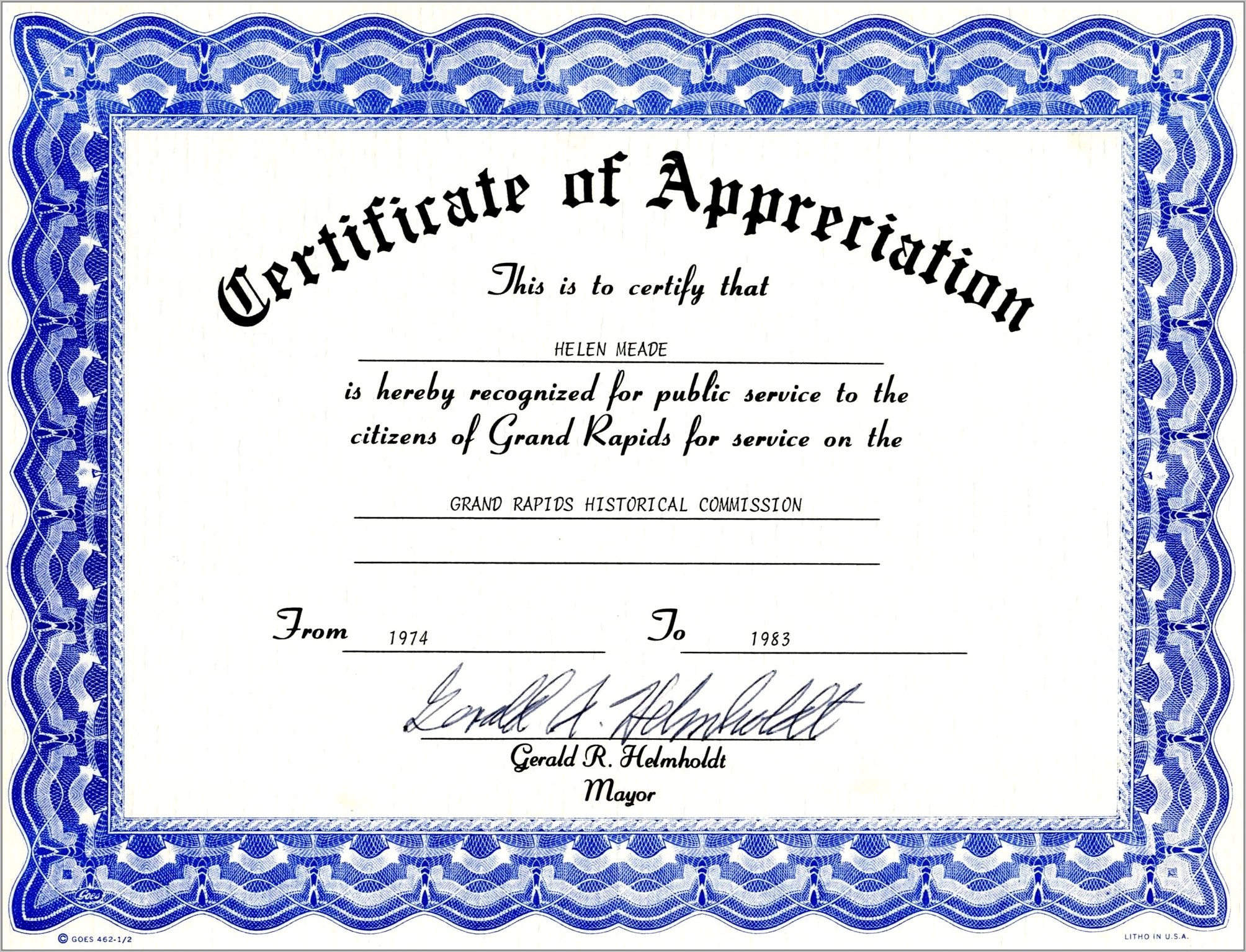 Certificate Of Appreciation Templates Free Download