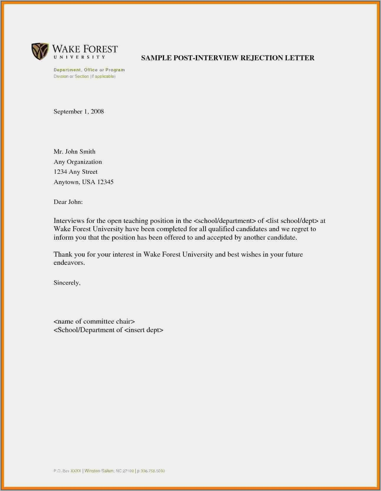 Cheerleading Tryout Rejection Letter
