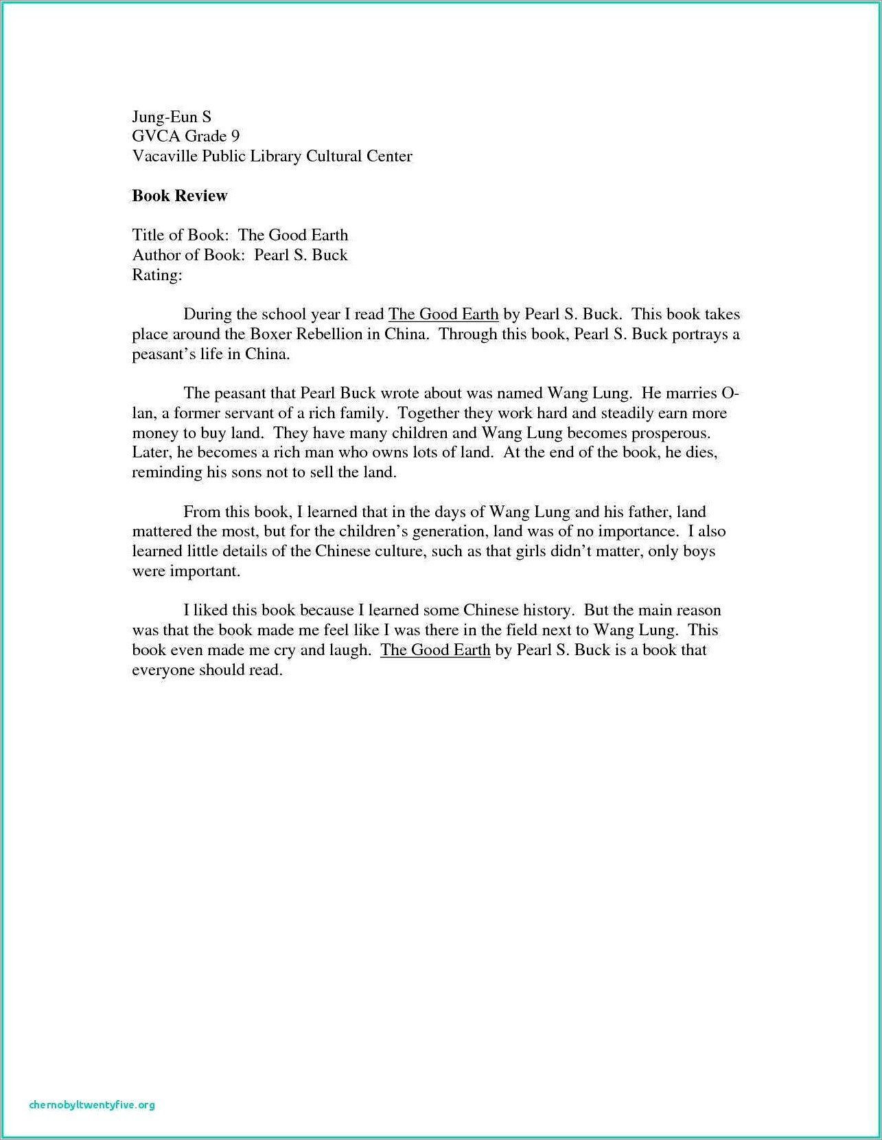 Child Custody Character Reference Letter For Custody