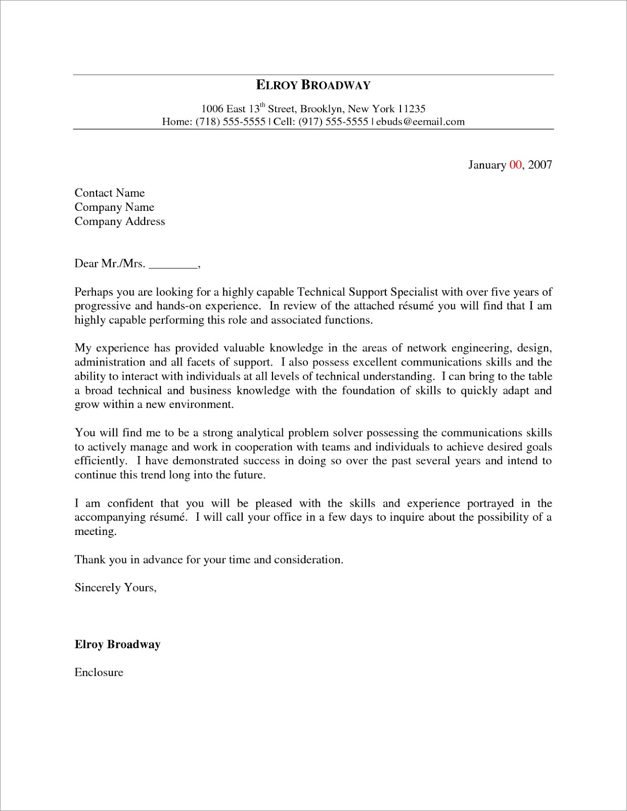 Child Protection Worker Cover Letter Sample