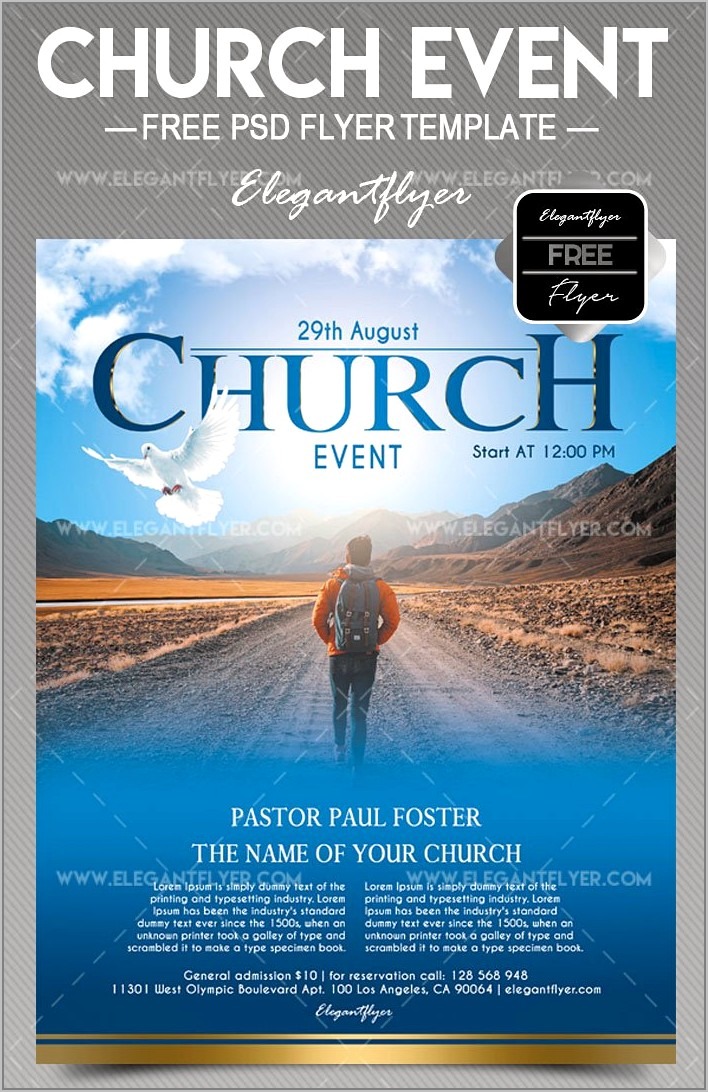 Church Event Flyer Templates Free Download