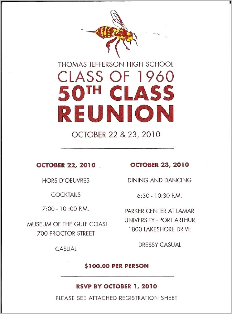 Class Reunion Invitation Templates Free