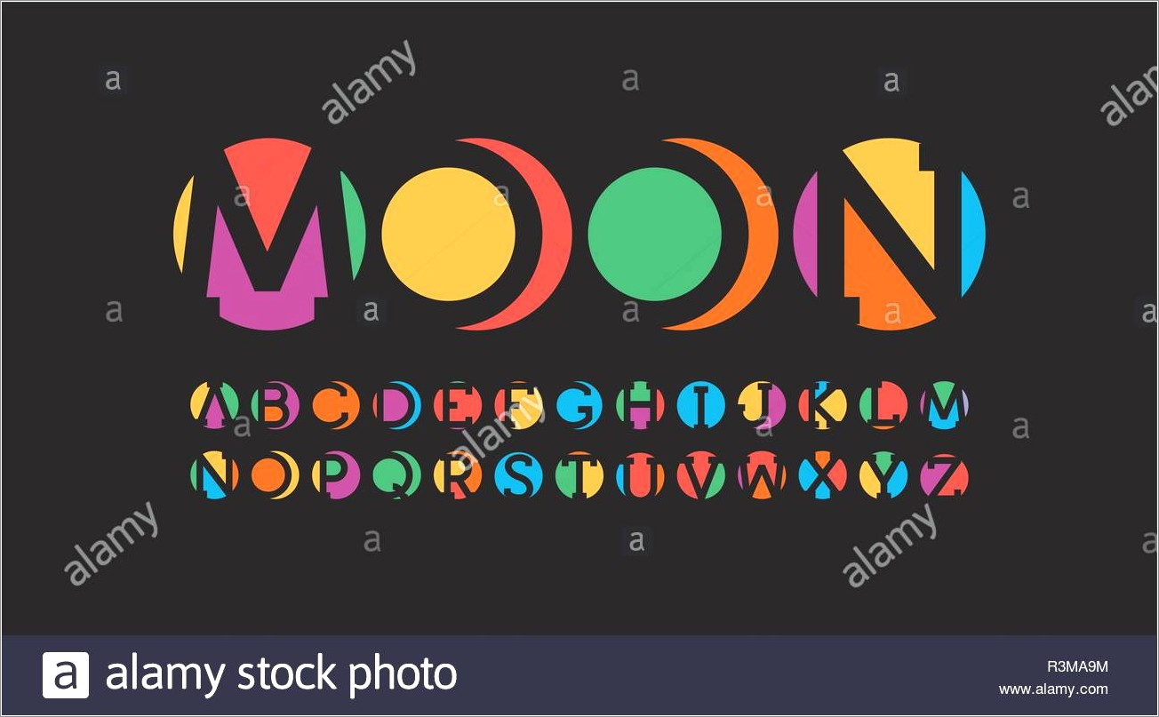 Colorful Alphabet Letters In Circles