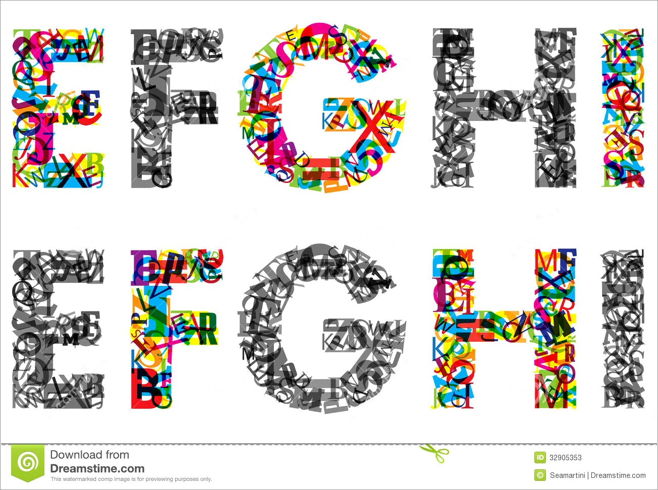 Colorful Big Printable Letters