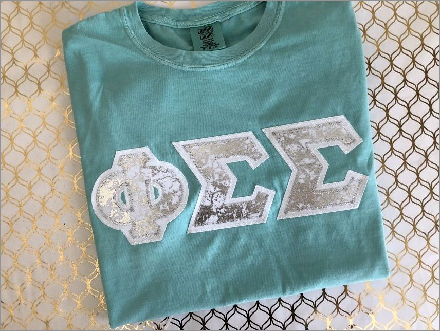 Comfort Colors Stitched Letters