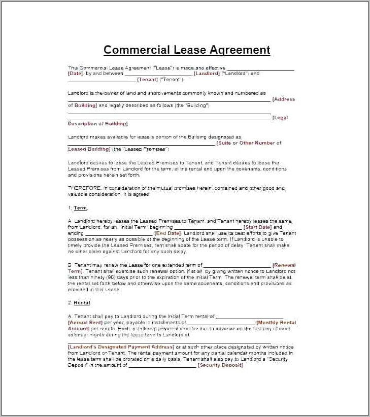 Commercial Property Lease Agreement Nz