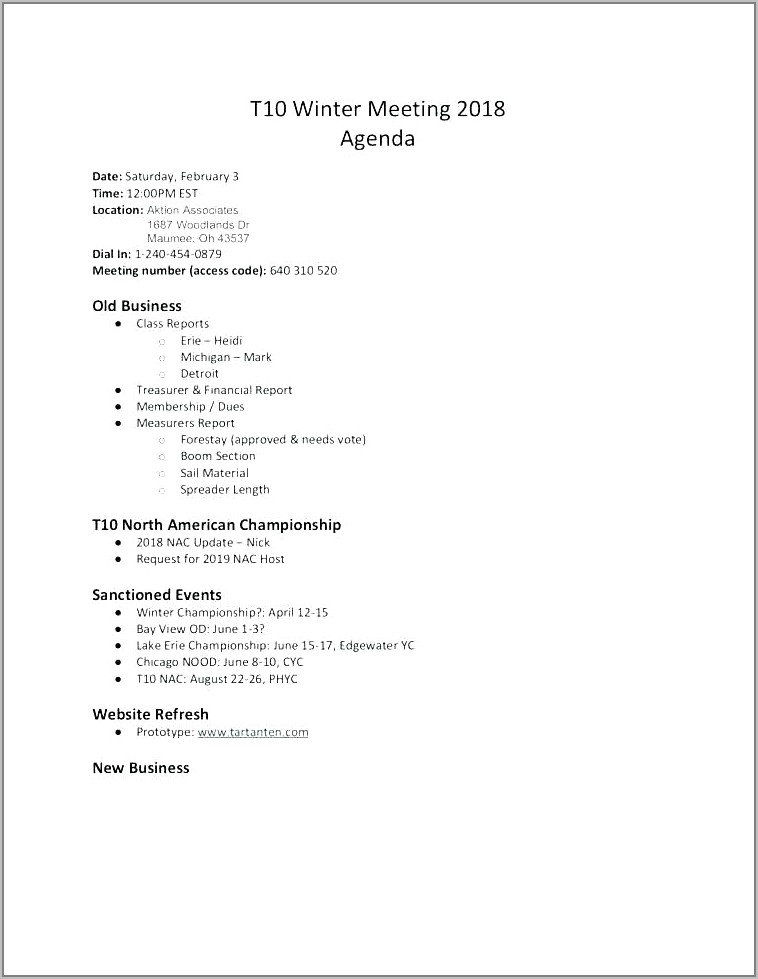Company Recording Meeting Minutes Template