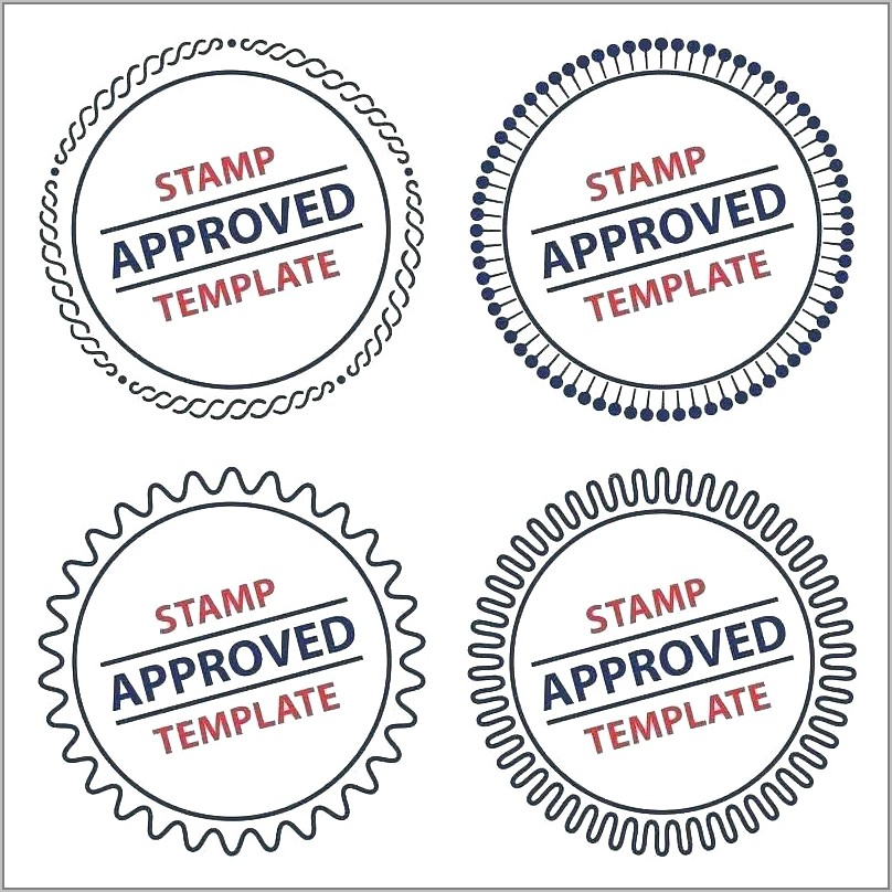 Company Rubber Stamp Template Word