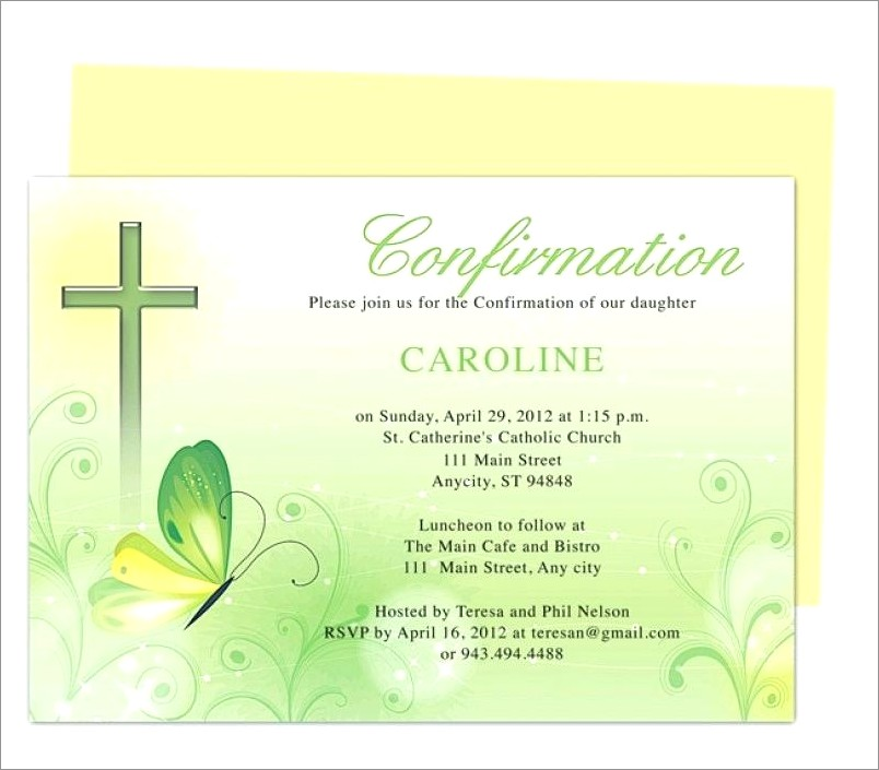 Confirmation Invitations With Photo