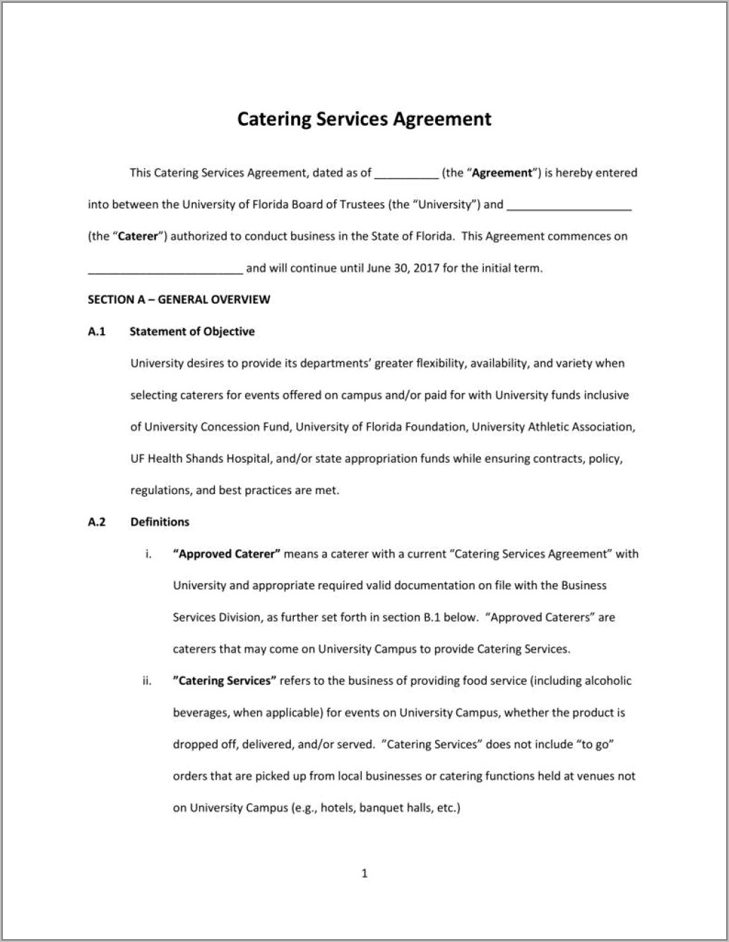 Contract Template For Payment Agreement