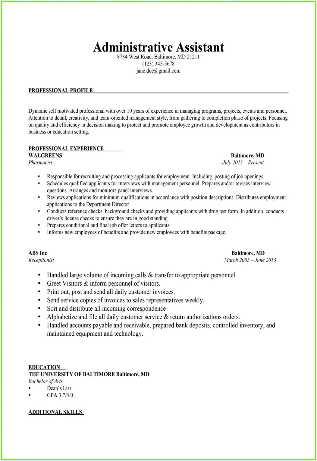 Controller Cover Letter Samples
