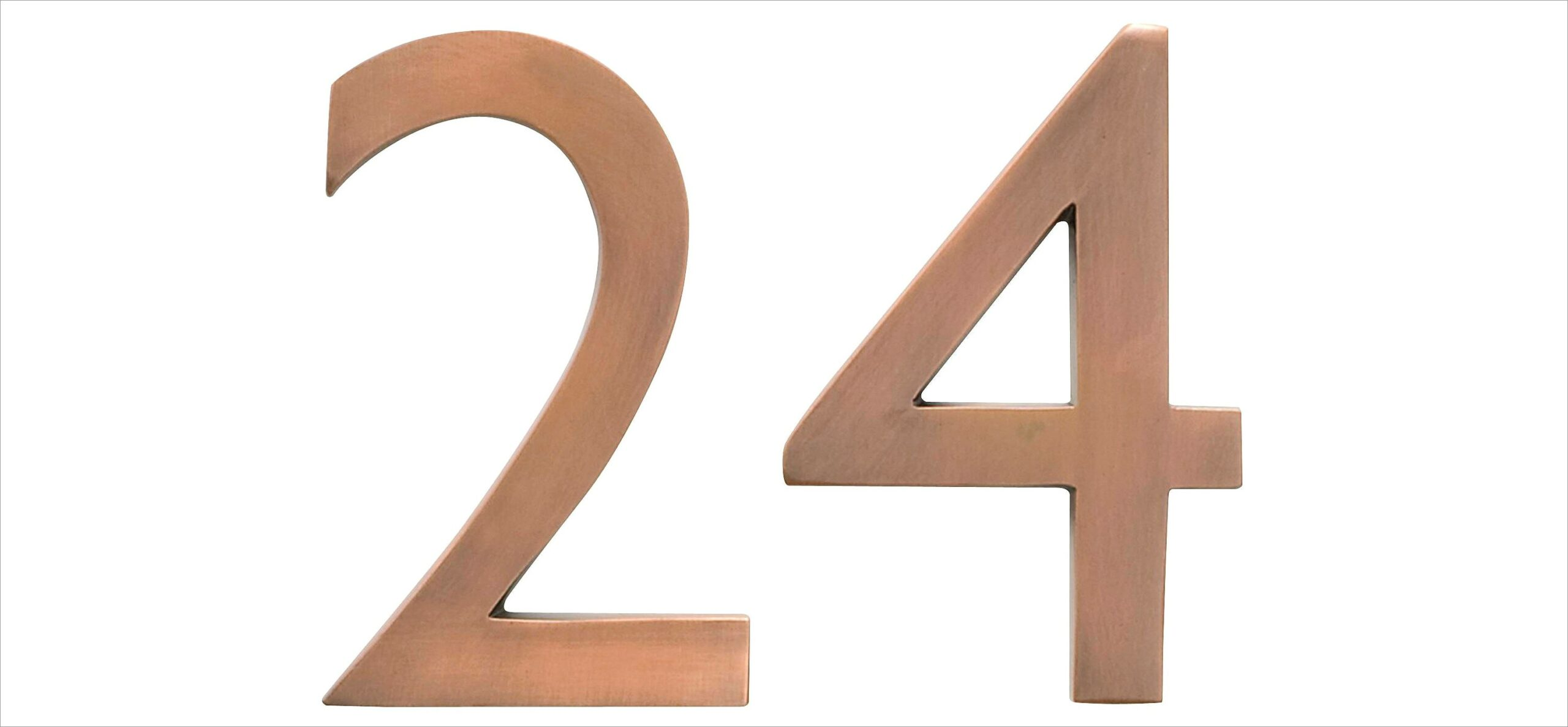 Copper House Numbers And Letters