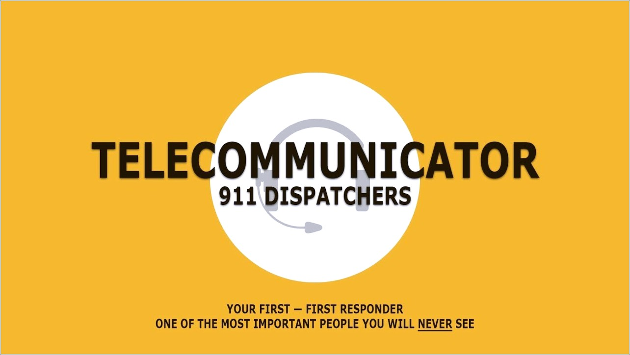Cover Letter Examples For 911 Dispatcher