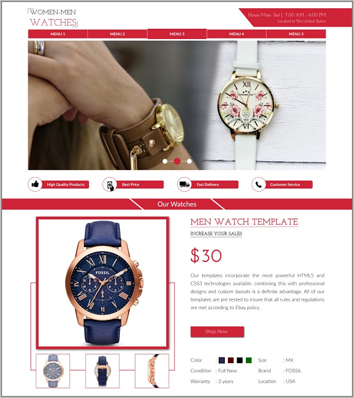 Create Template For Ebay Listing