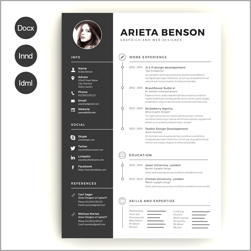 Creative Resume Templates Download Word