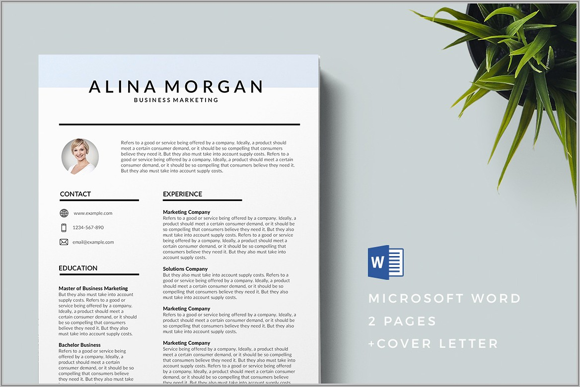 Creative Resume Templates Word Download