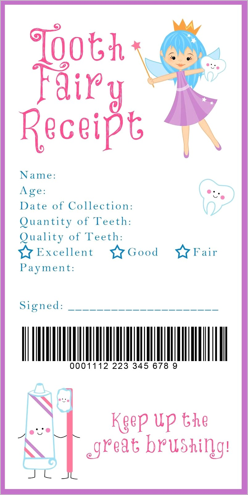 Customizable Tooth Fairy Letter Template Pdf