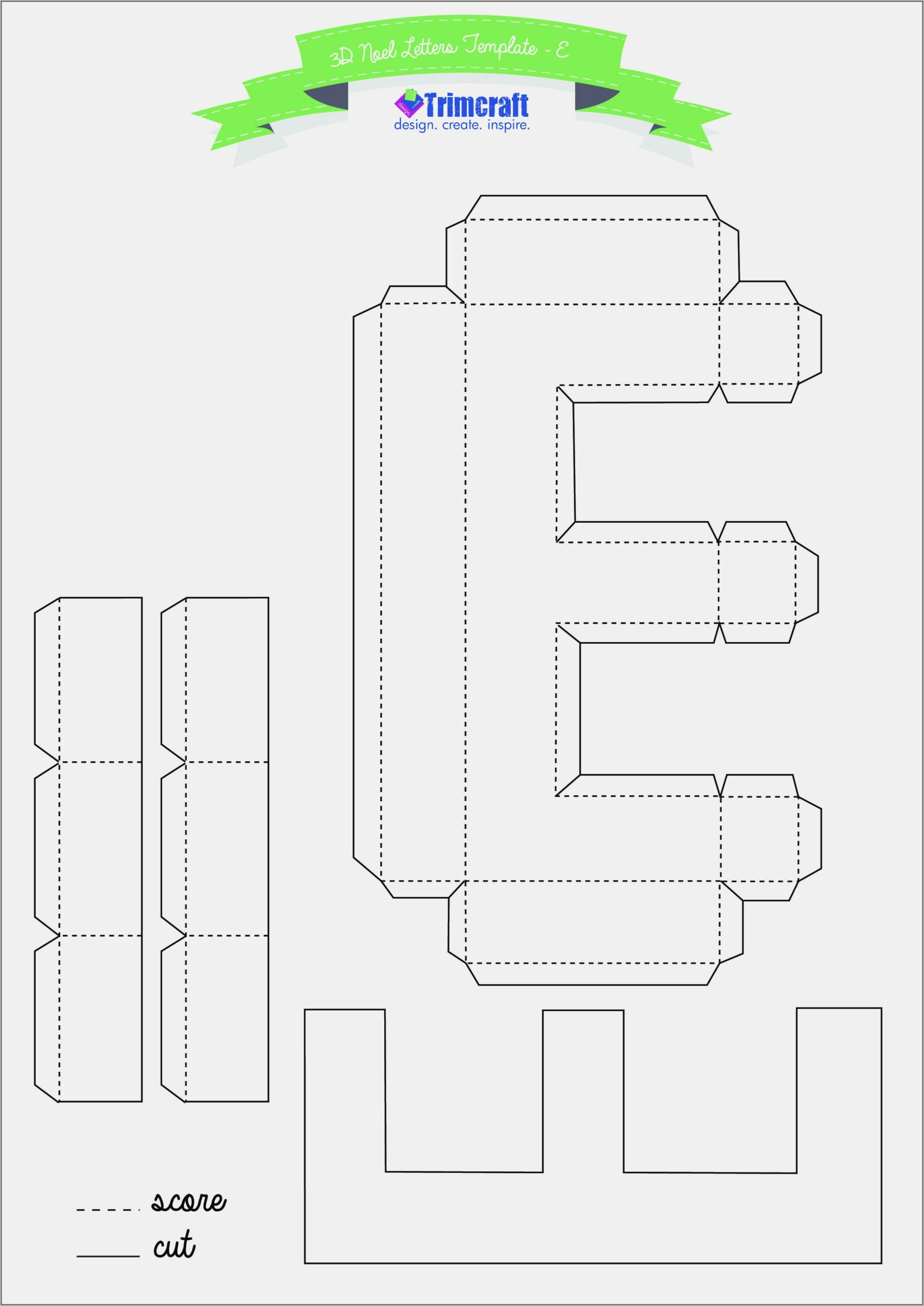 Cut Out Printable 3d Letters Template