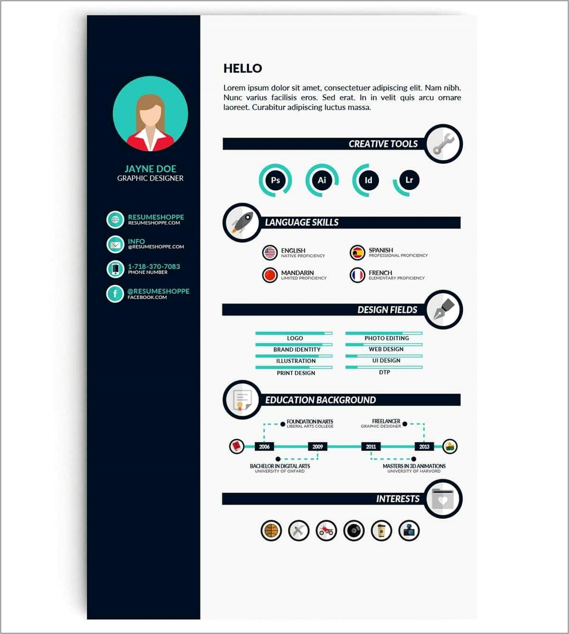 Cv Infographic Template Free Download