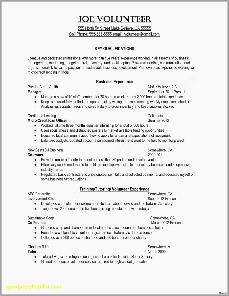 Cv Template For Retail