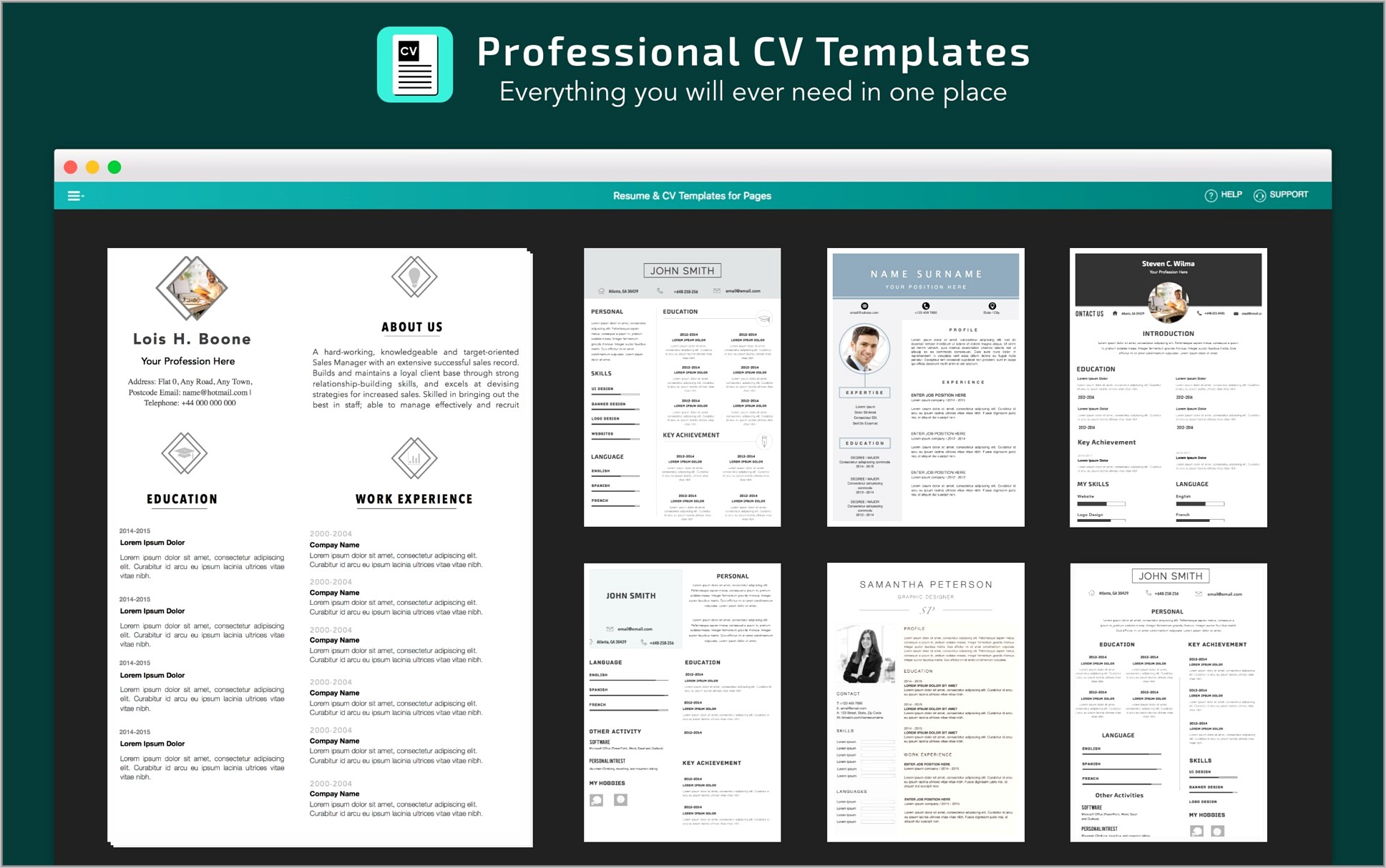 Cv Templates For Pages Mac Free