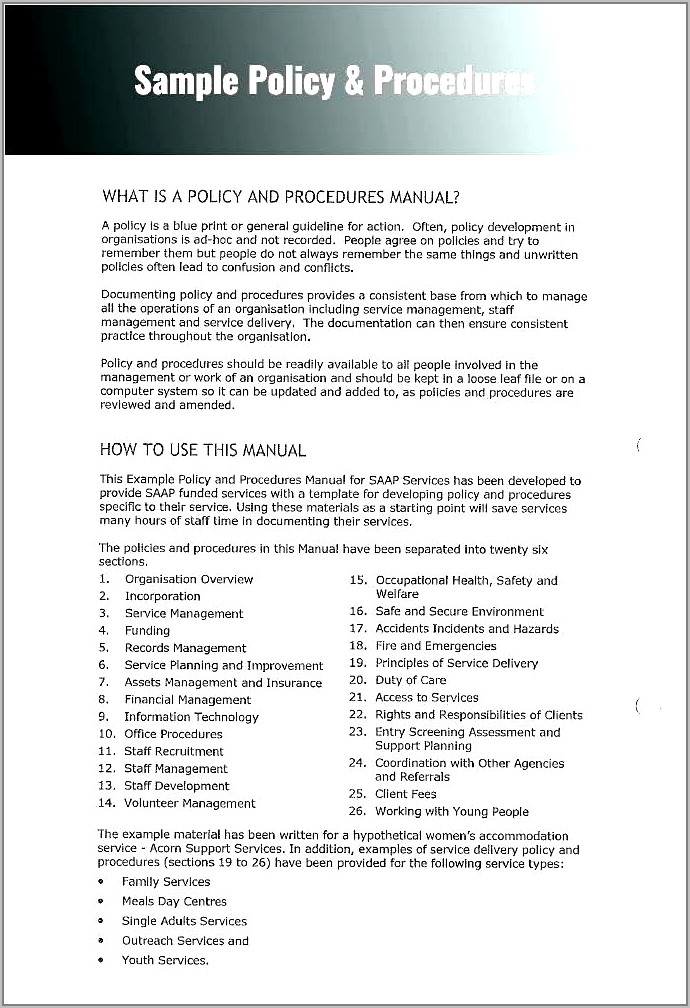 Cyber Security Policies And Procedures Template