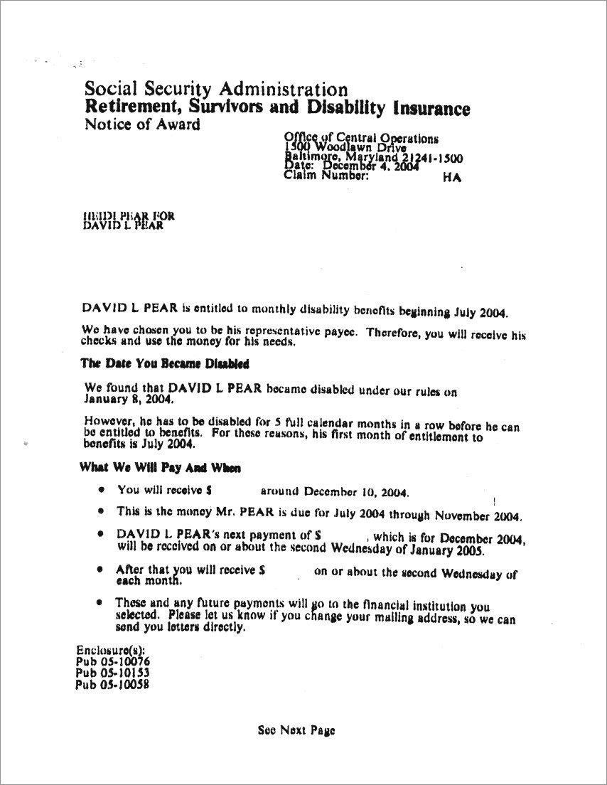 Decision Ssdi Approval Letter Example