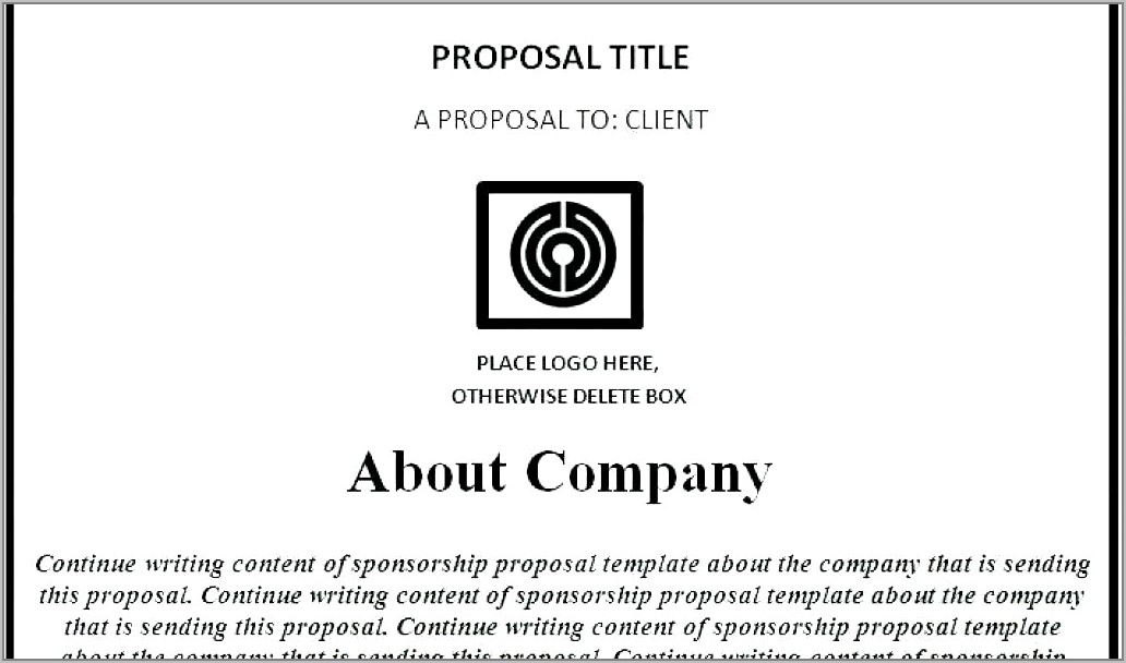 Dirt Racing Sponsorship Proposal Template