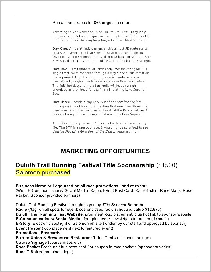 Dirt Track Racing Sponsorship Proposal Template