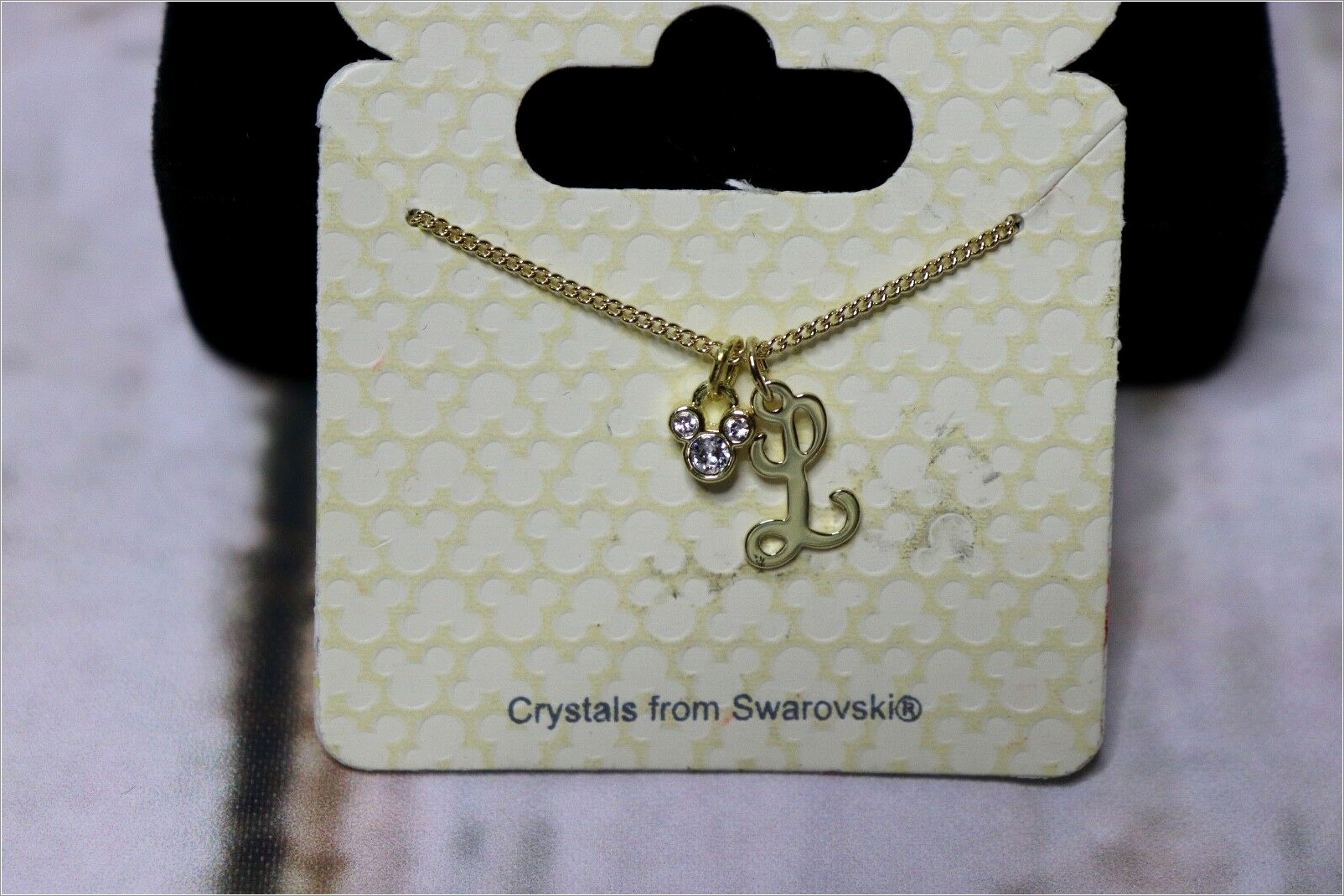 Disney Necklace With Letter